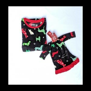 Girl Holiday Microfleece Nightgown & Doll Gown Set